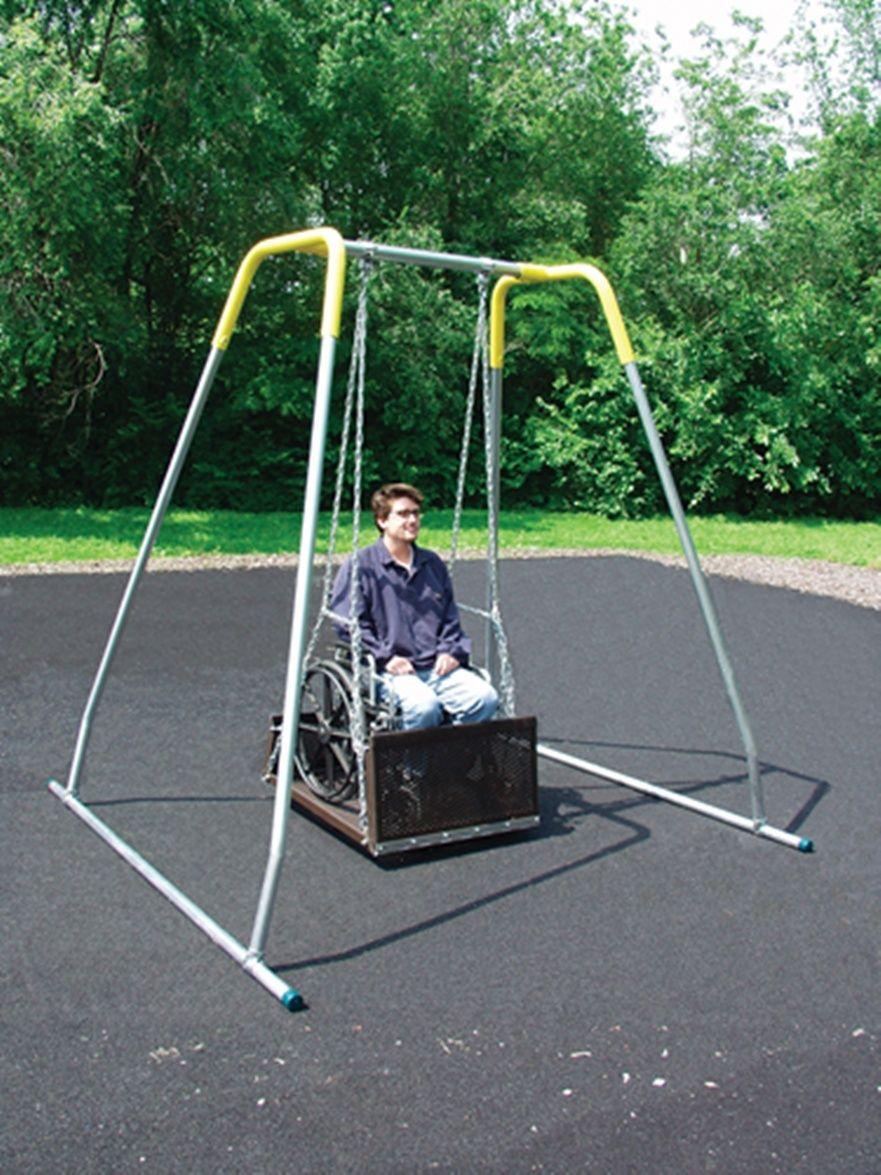 Wheelchair Platform Swing and Frame Platform swing