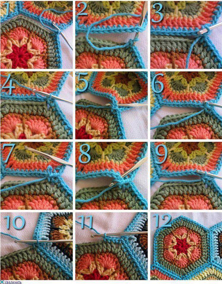 Häkelmuster-Fundgrube: Zusammenhäkeln | crochet | Pinterest ...