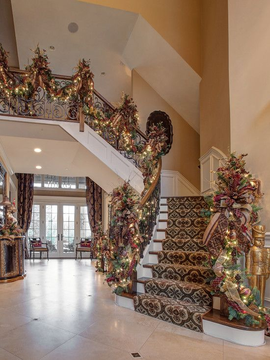 The Best 25 Christmas Design Ideas With Images Christmas Staircase Christmas Stairs Christmas Stairs Decorations
