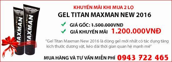 gel titan maxman dành cho nam giới có dương vật nhỏ ngắn người bị