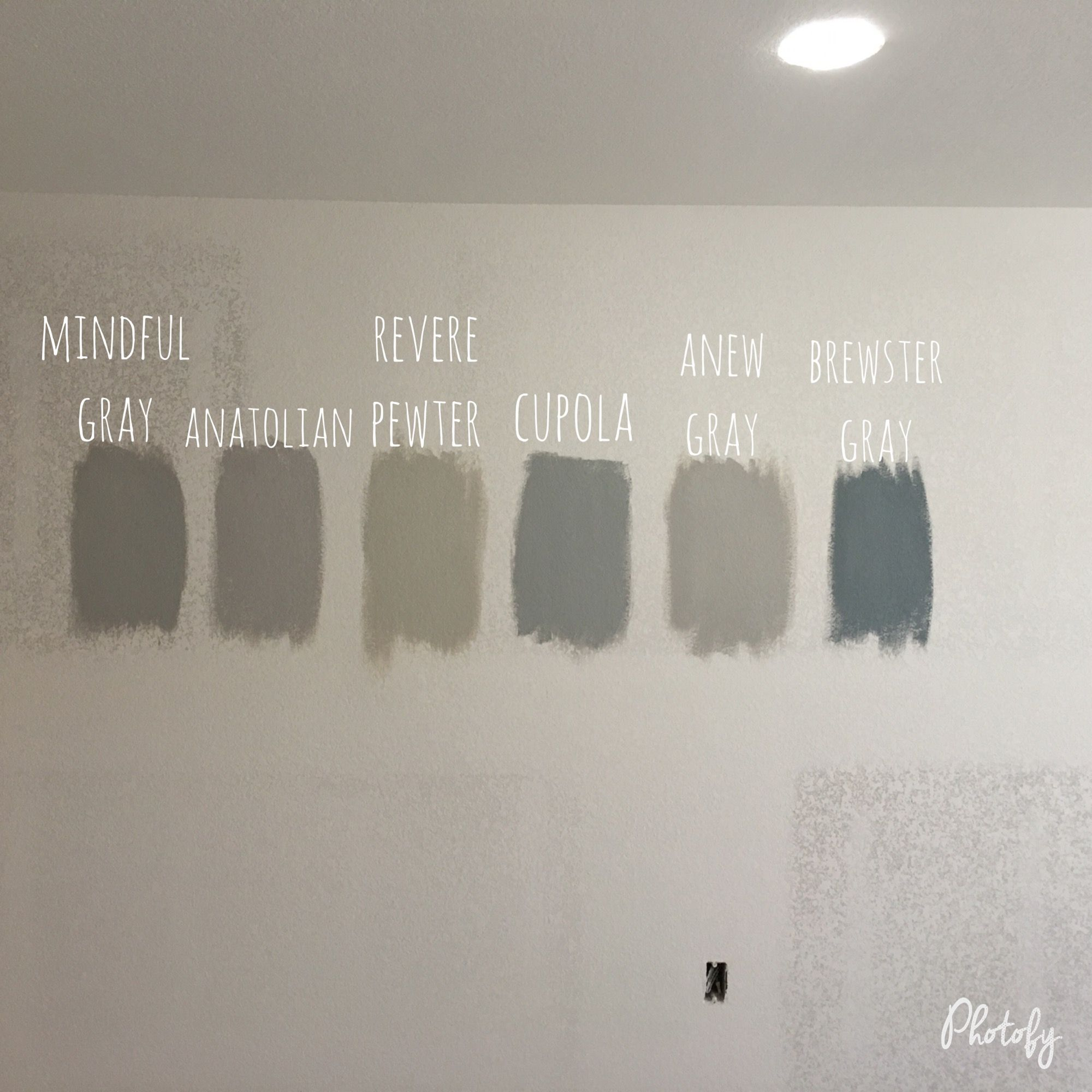 Our paint choices for the basement. Ben Moore Revere ...