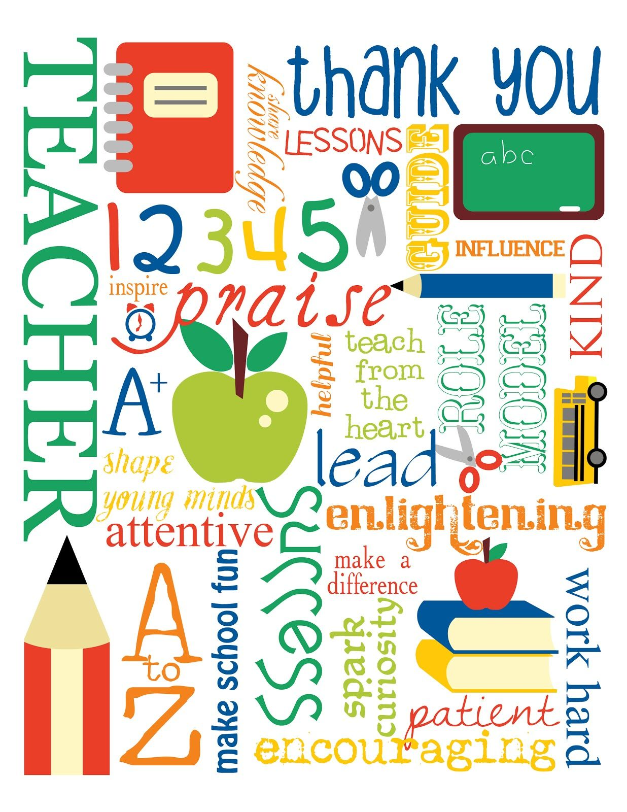 Mollie my design thank you teachers teaching quotes pinterest free printable thank you teacher subway art by mollie my design personal use only w clip art from revidevi voltagebd Choice Image