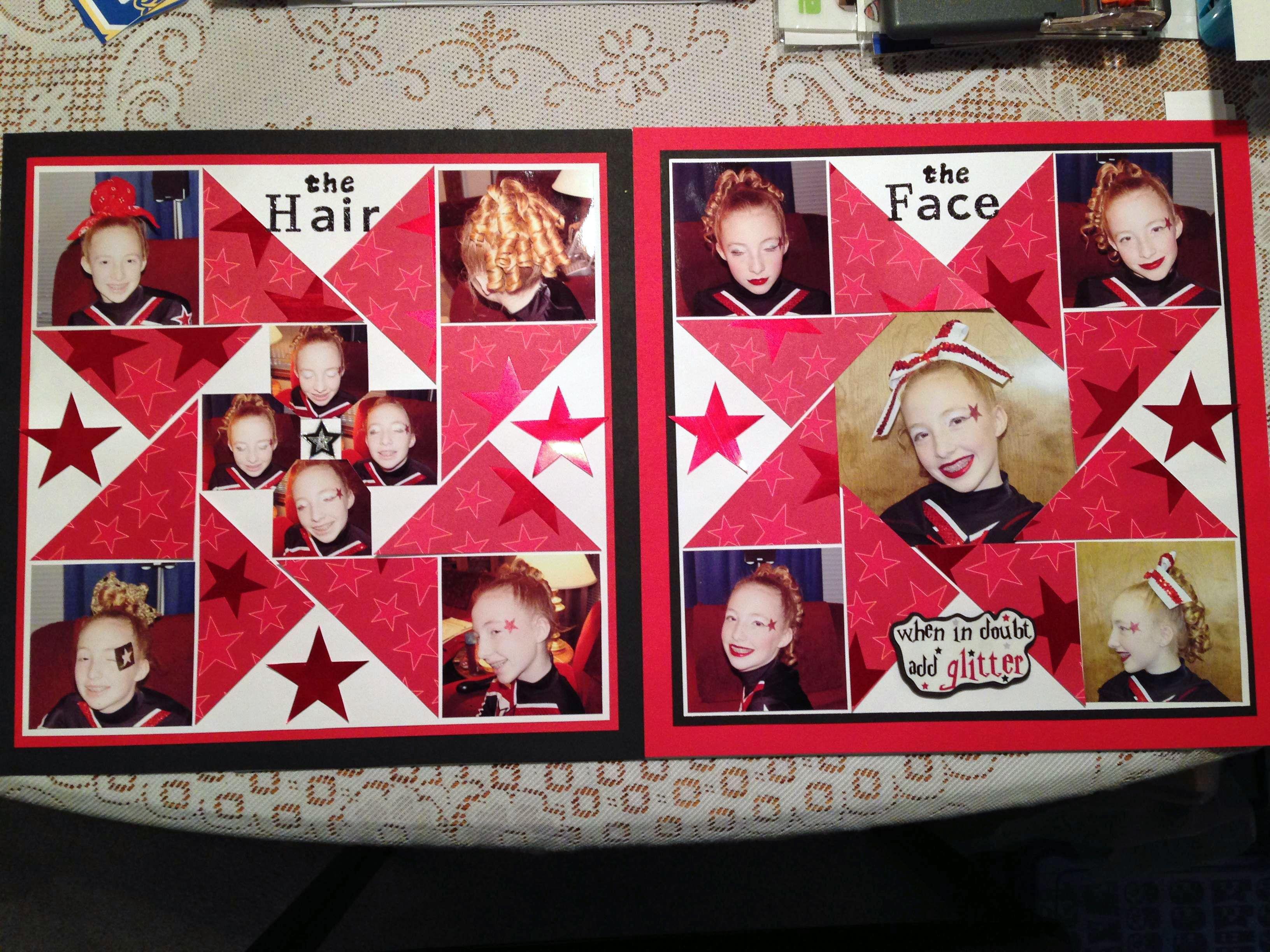 Scrapbook ideas words - Scrapbook Layout From Kristi S Kc Cheer Scrapbook Album Cheerleading