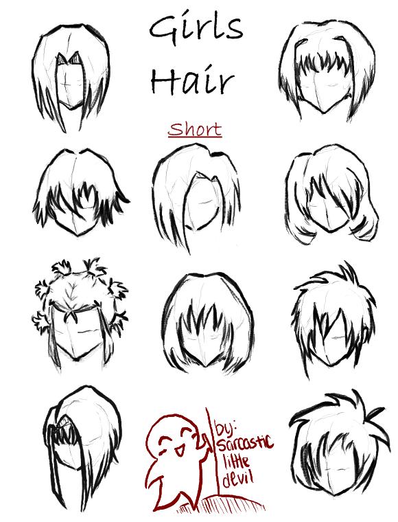 Hair styles for girls short by SarcasticLittleDevil