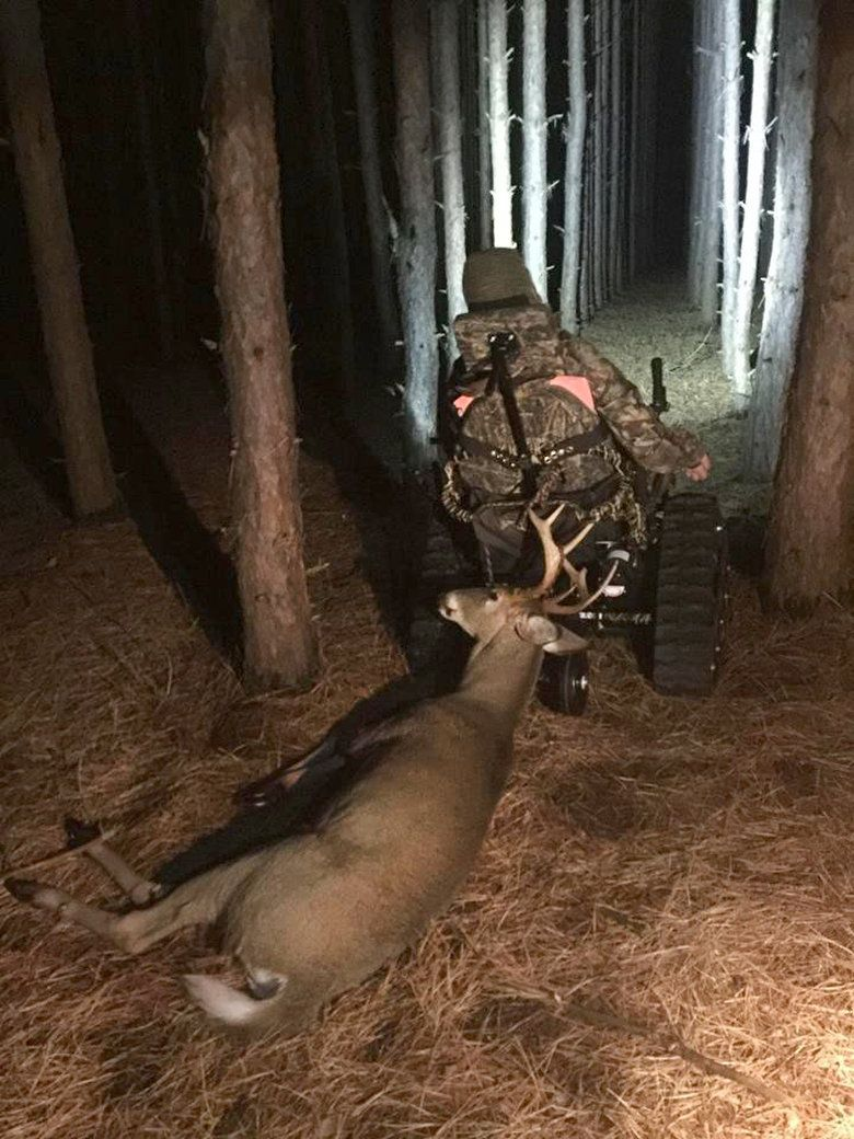 Paralyzed hunter bags 9point buck with help from special