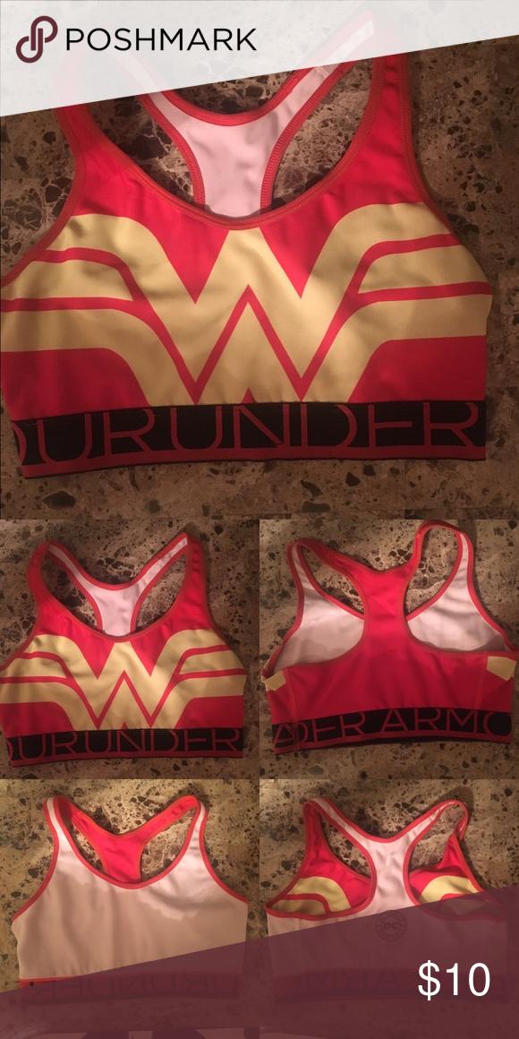 Under Armor DC Comics Wonder Woman sports bra GUC 65f5ff947