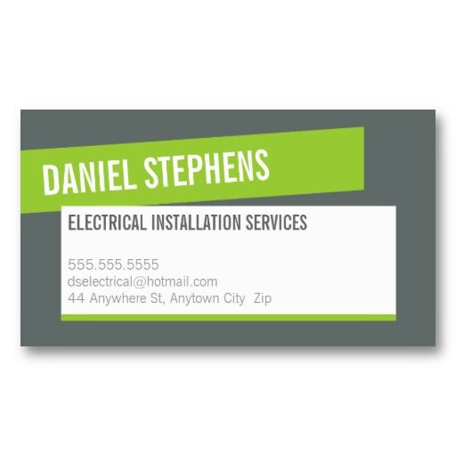 Modern card cool bold lime green grey businesswork pinterest modern card cool bold lime green grey business card 2620 reheart Gallery