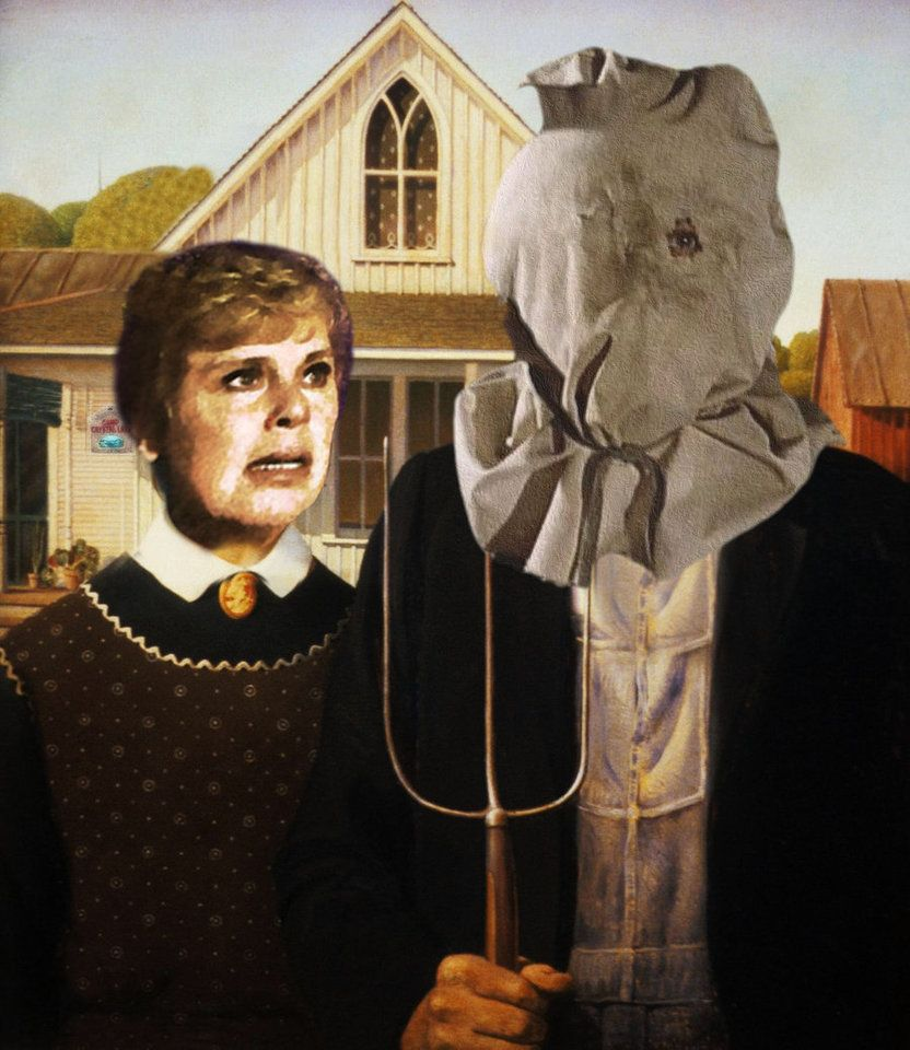 American Gothic At Camp Crystal Lake By Brandtk