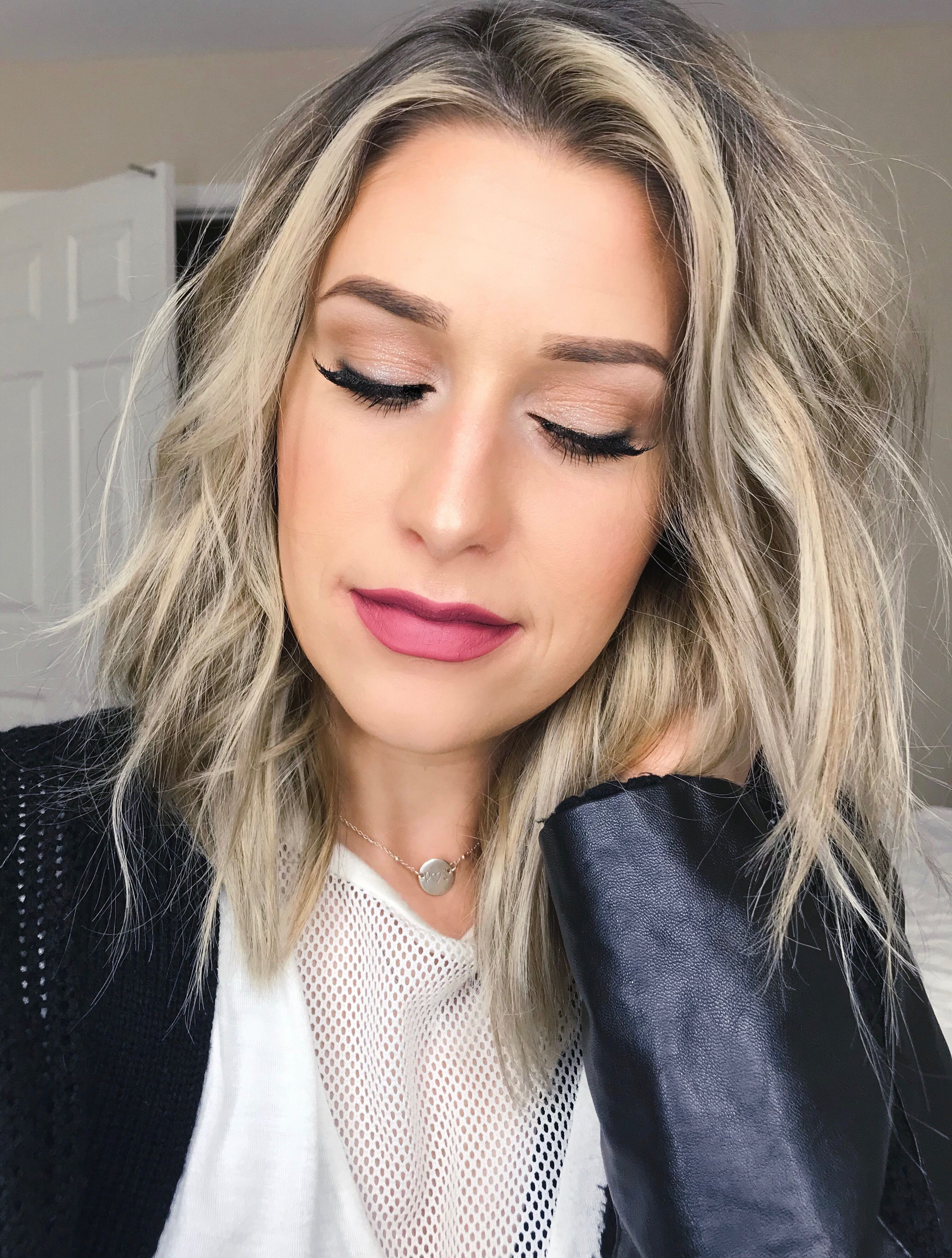 Natural Eye Makeup with Pink Lip Valentines Day Makeup
