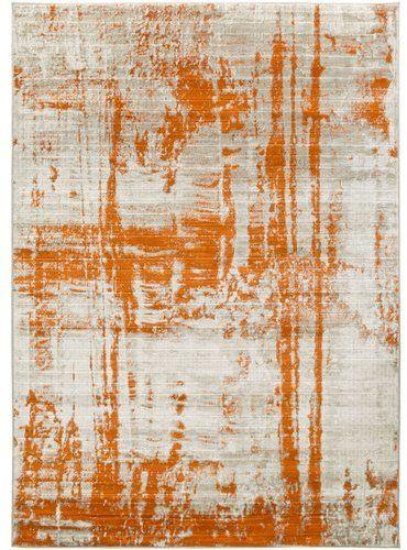 Varick Gallery Ferrin Light Gray Burnt Orange Area Rug Rug Orange Rugs Abstract Rugs