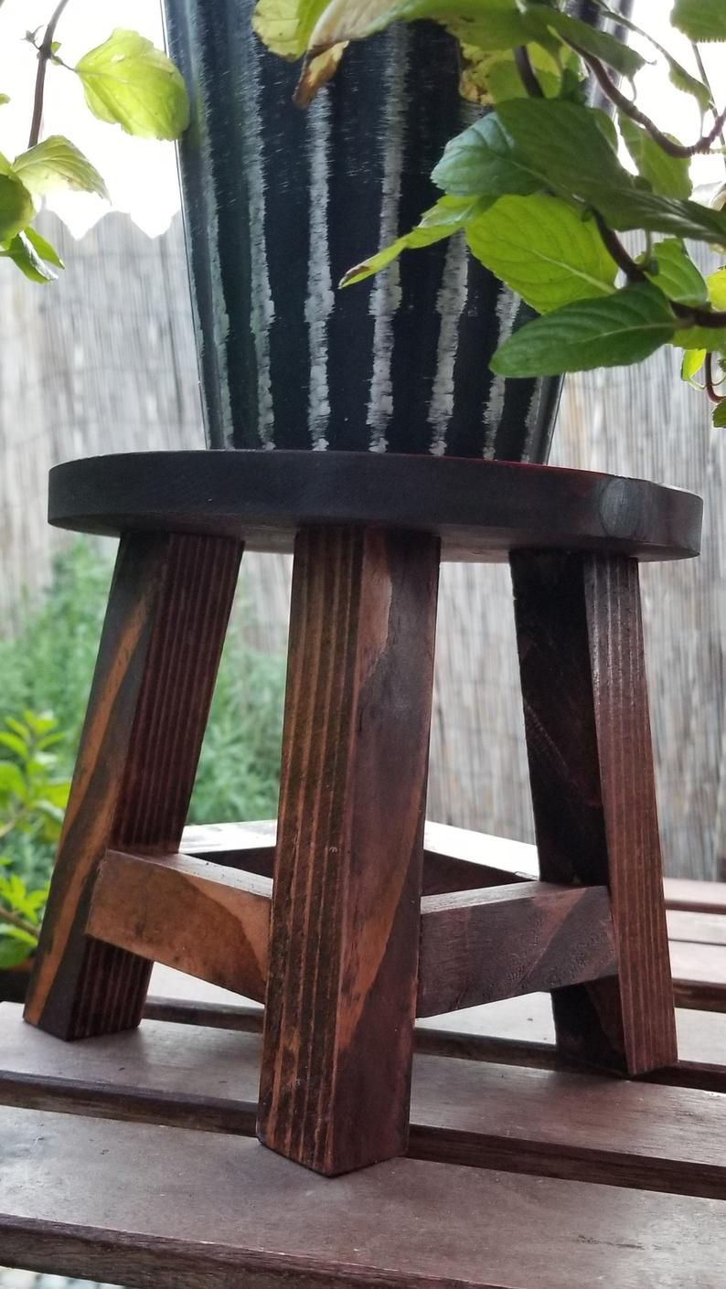 Excellent Small Stool Plant Stand Wooden Plant Stand Display Stand Squirreltailoven Fun Painted Chair Ideas Images Squirreltailovenorg