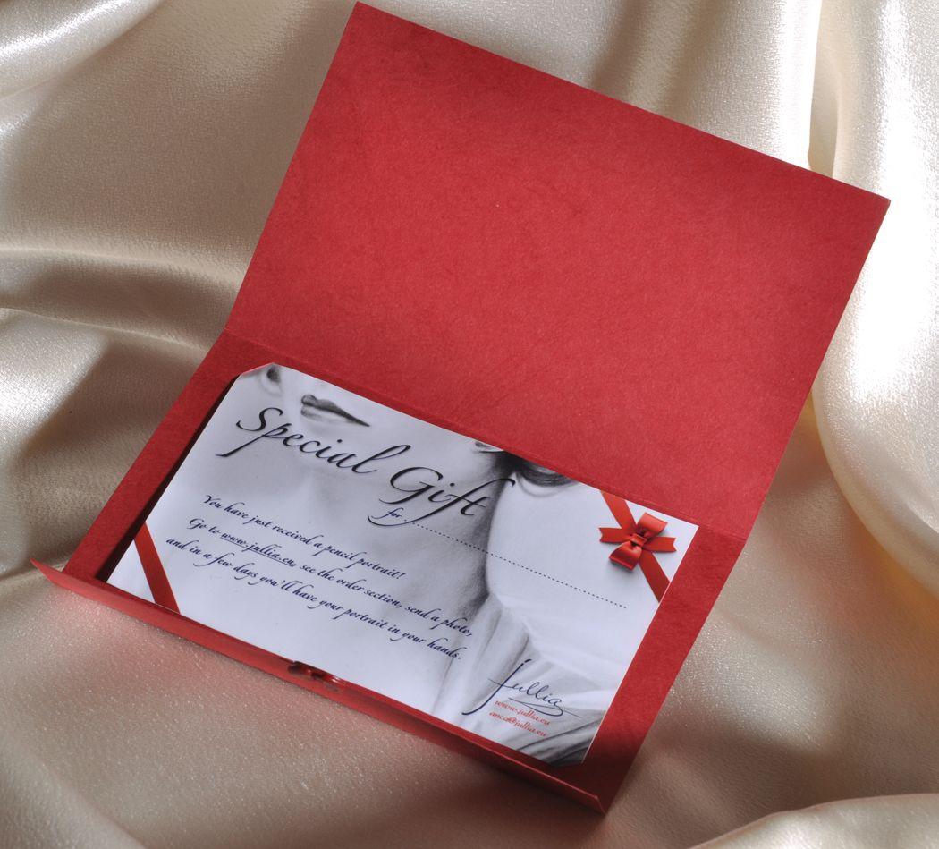 Подарочный сертификат открыткой пример