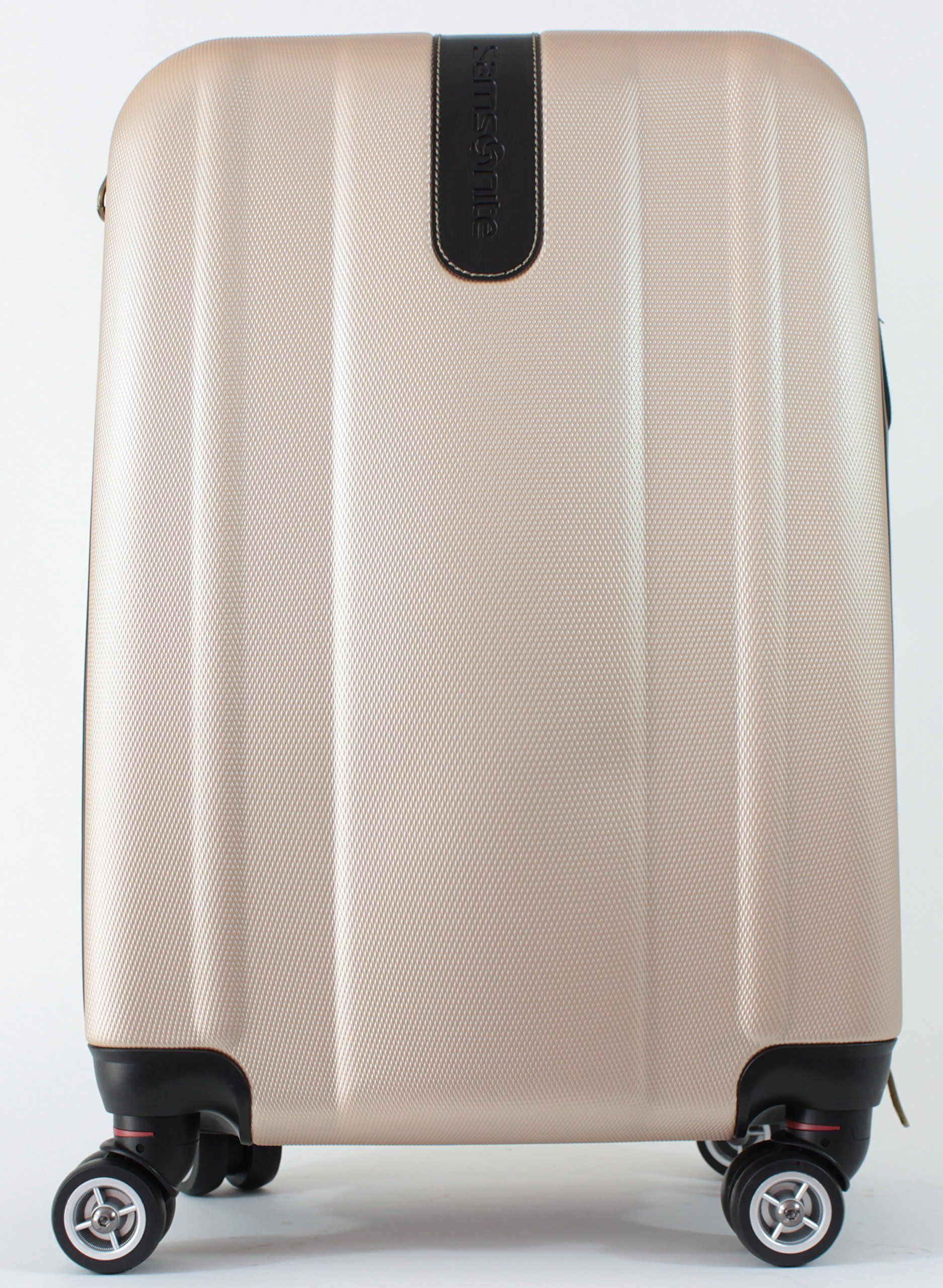 a264ee5a8b5 Travel in style with the Samsonite Luggage Oyster Bay DLX Carry-on Spinner  Suitcase 20 Inch in Blush Gold