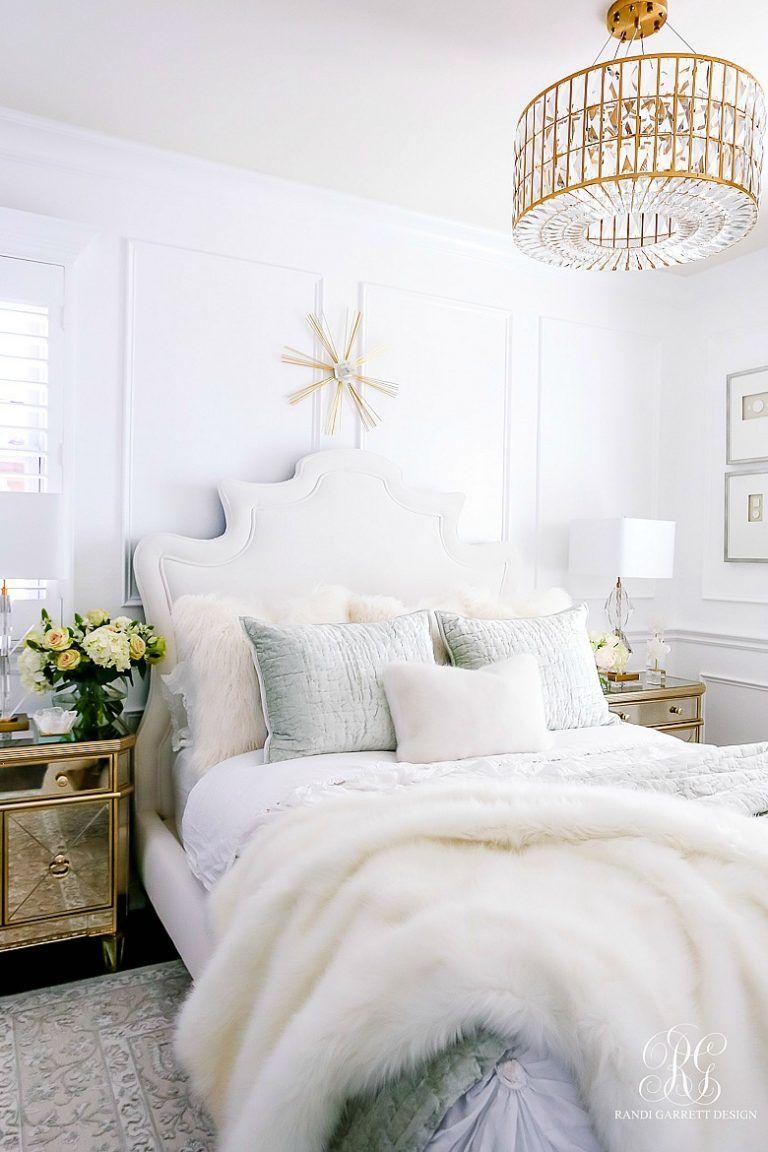 Glam Guest Bedroom Makeover White bedroom, Home decor
