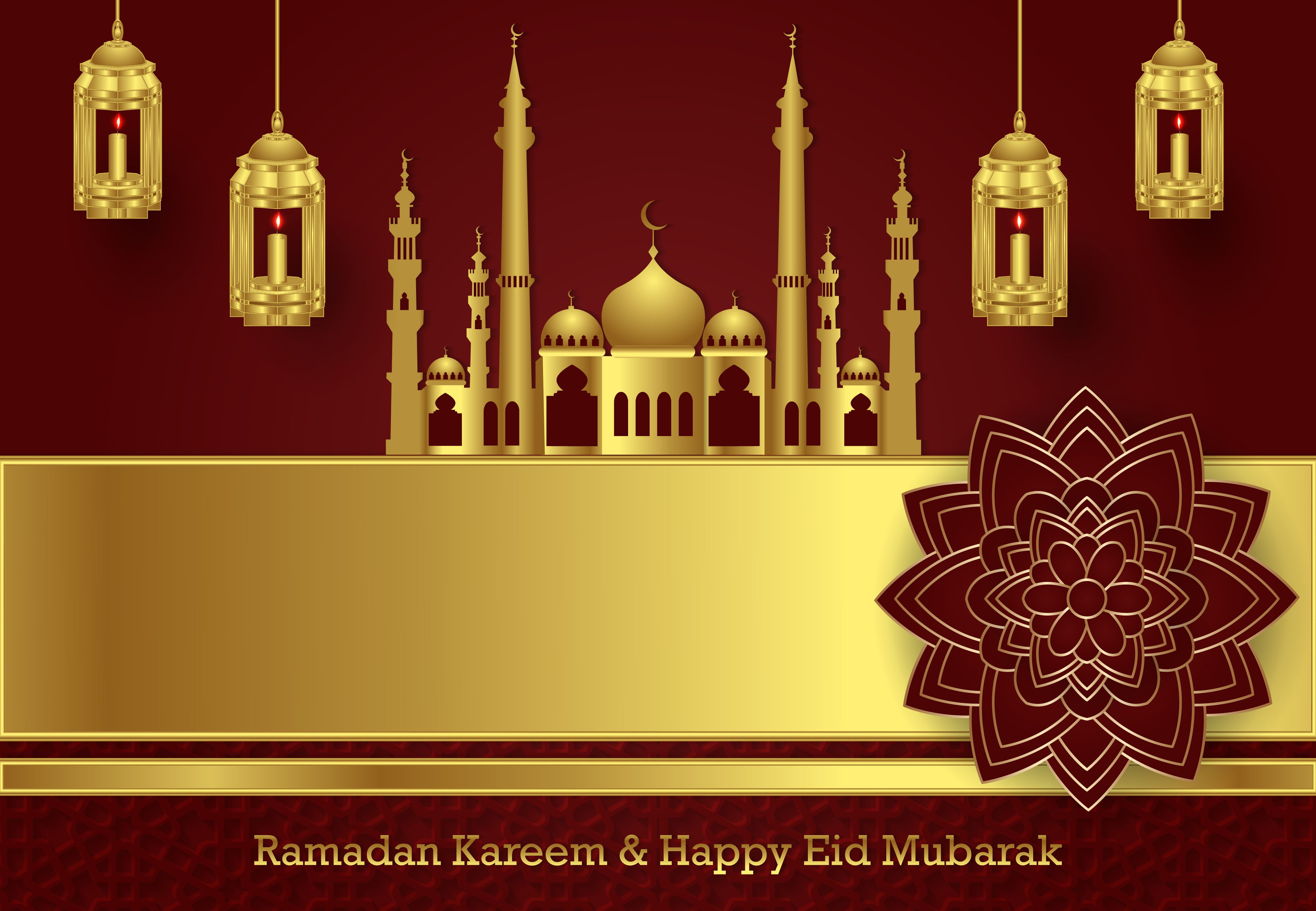 Luxury Ramadan And Happy Eid Mubarak Graphic By Sugarv Creative