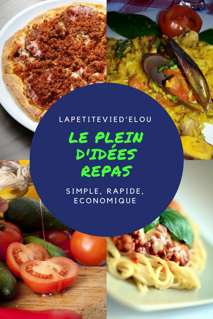 Idée De Repas Rapide Le plein d'idées repas : simple, rapide et économique | Idée repas