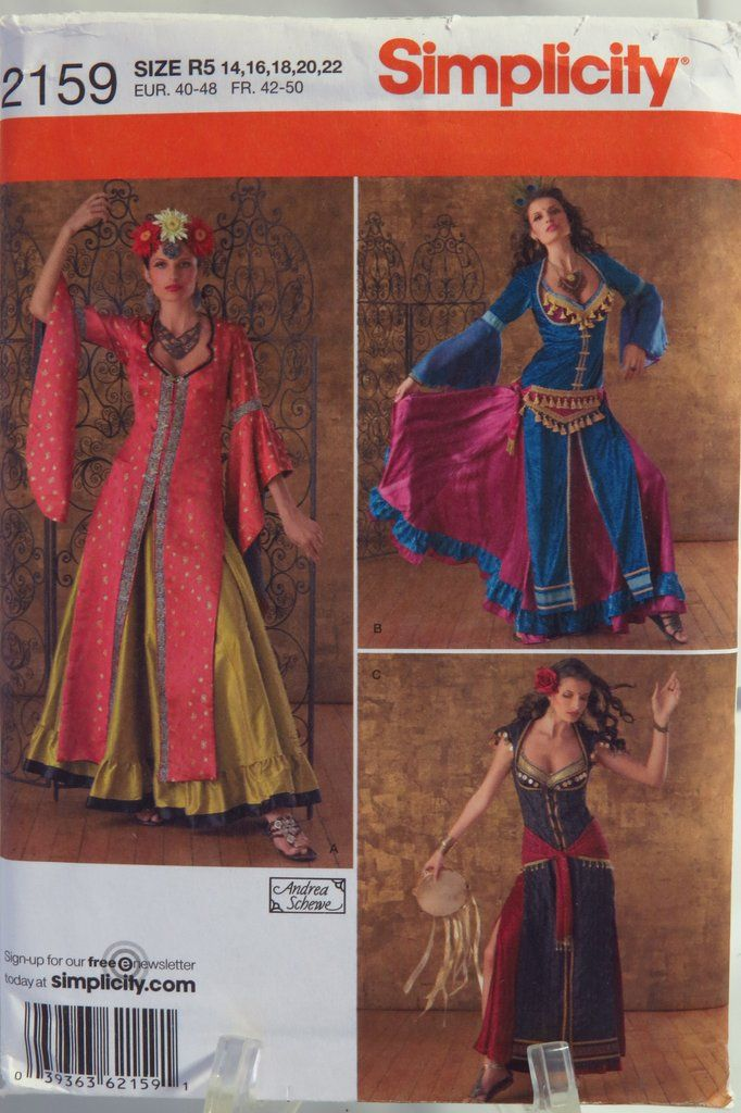 Simplicity 2159 Misses\' Belly Dancer Costumes | Andrea Schewe Sewing ...