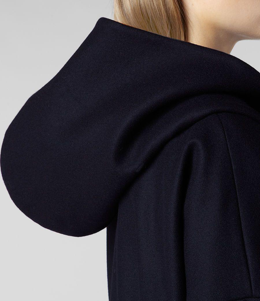 navy hooded duffle coat