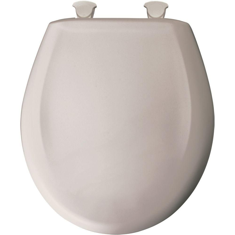Superb Round Closed Front Plastic Toilet Seat In Heather Grey Ibusinesslaw Wood Chair Design Ideas Ibusinesslaworg