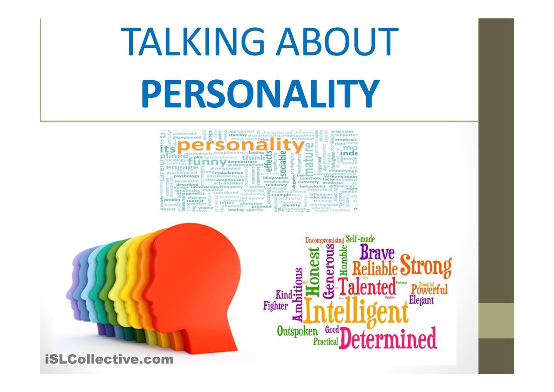 Personality Adjectives Presentation