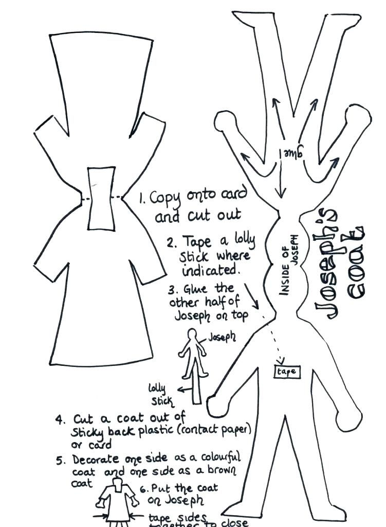 Joseph And The Coat Of Many Colors Coloring Page Coat Coloring