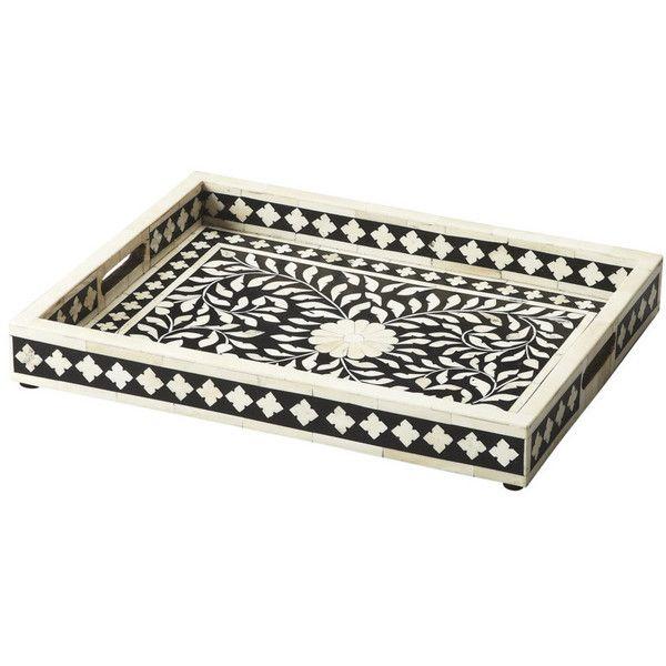 Black Decorative Tray Interesting Butler Specialty Vivienne Serving Tray 3230016 Black 3230016 $349 2018
