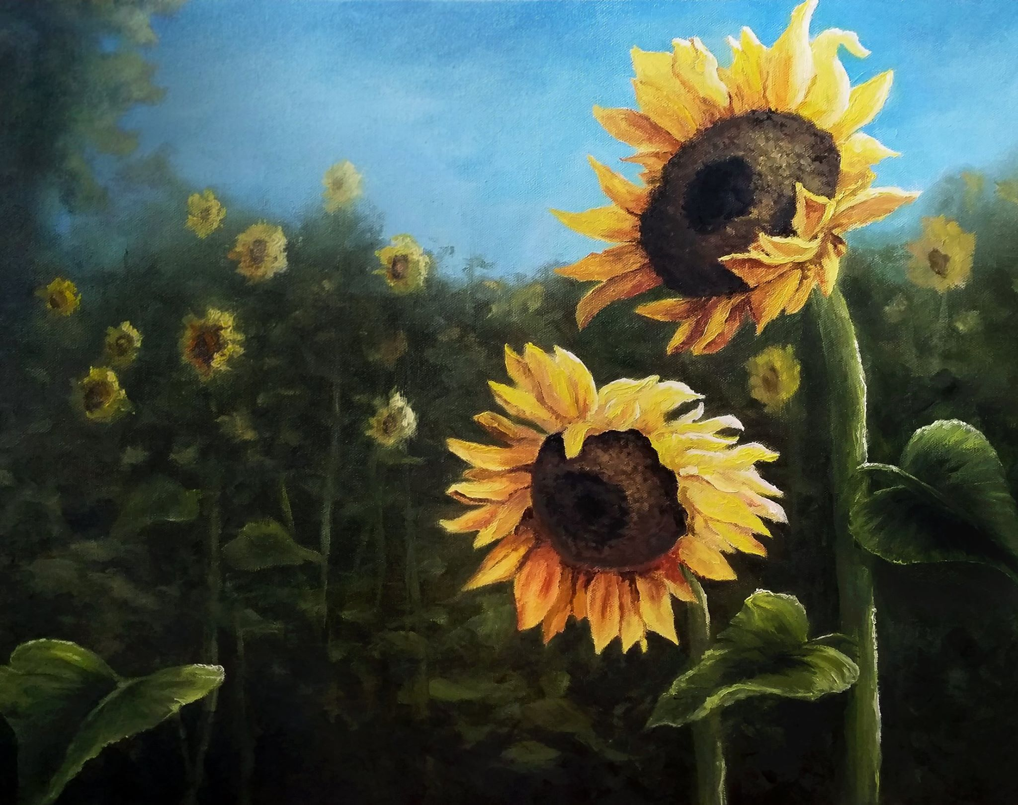 """Field of Sunflowers"" Oil Painting by Kevin Hill Check out"