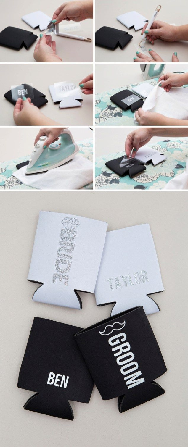 Check Out These Awesome DIY Bridal Party Can Koozies! | Cricut and ...