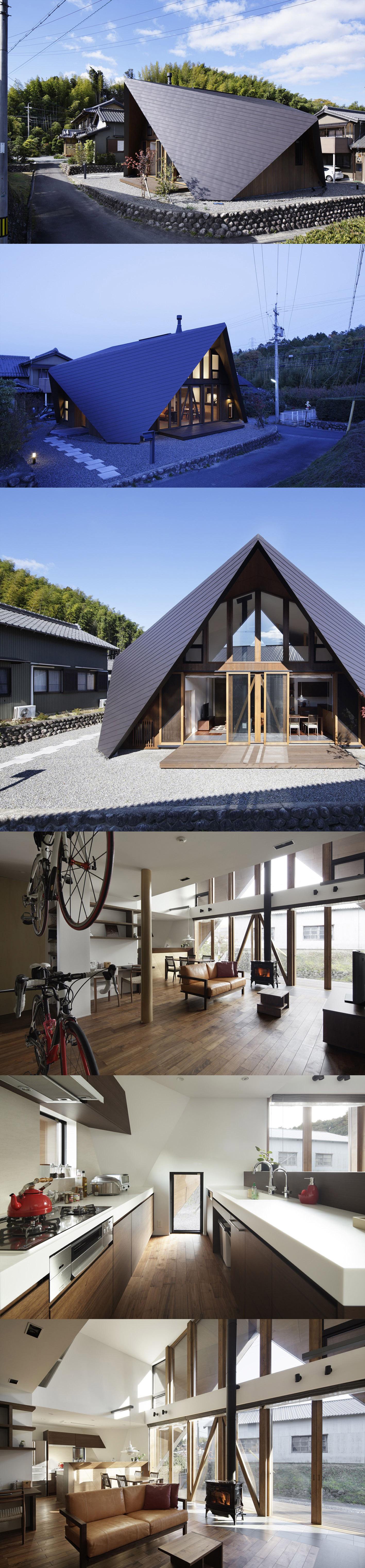 Origami House by architect Yoshiaki Tanaka of TSC Architects in Mie, Japan