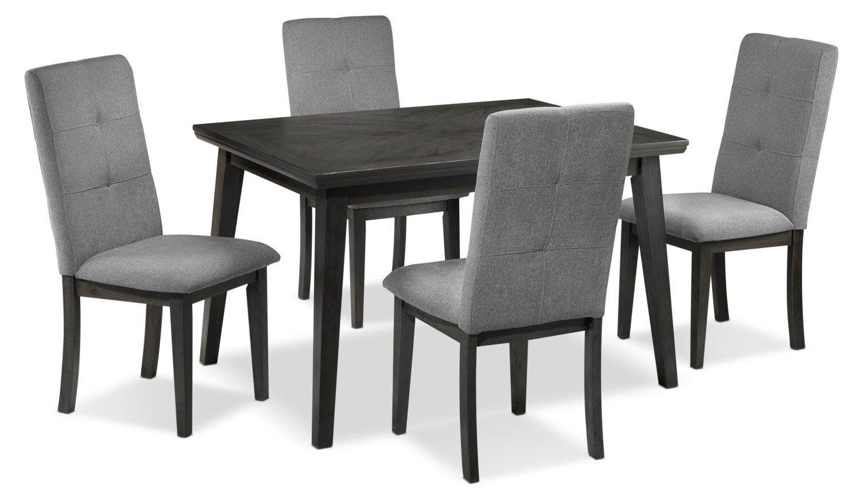 Carson 5 Piece Dinette Set Grey Dinette Sets Dinette Furniture