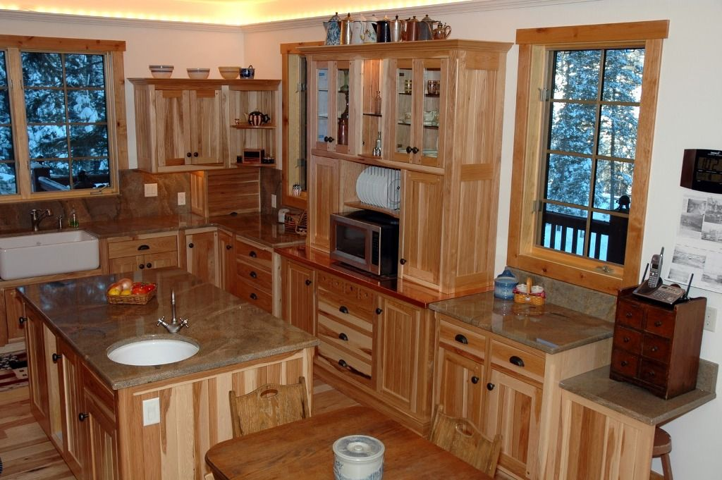 Hickory Kitchen Cabinets Photos | Unfinished kitchen ...