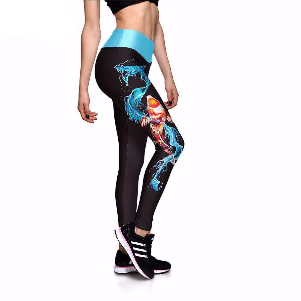 92e2578d84c39 Blue Water Dragon Leggings   Products   Leggings, Women's leggings ...
