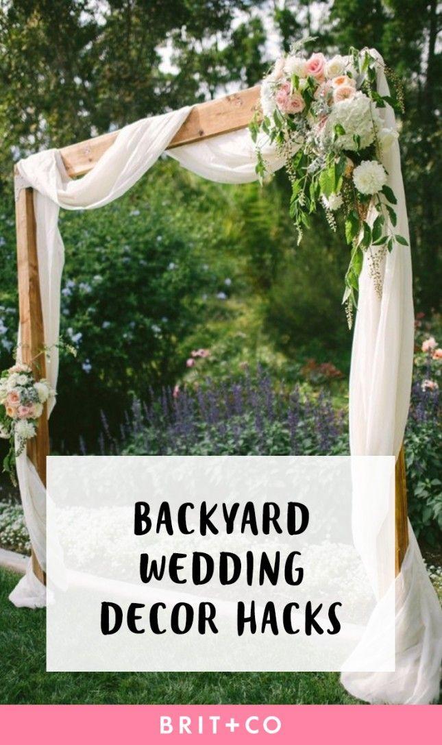 14 Backyard Wedding Decor Hacks for the Most Insta Worthy Nuptials EVER via Brit + Co Weddings