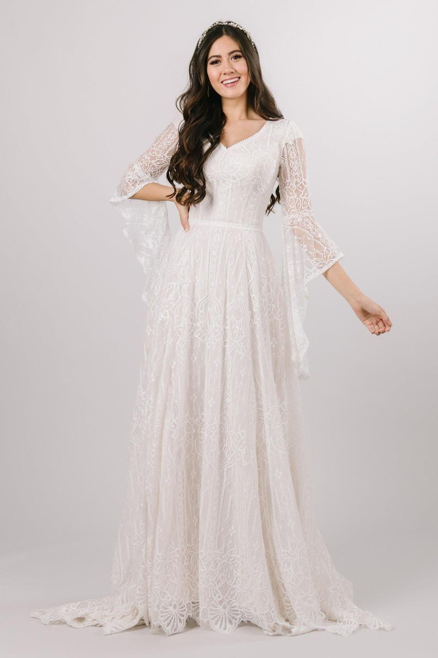 Arwen Modest Wedding Dresses Wedding Dress Shopping Wedding Dresses [ 1350 x 900 Pixel ]