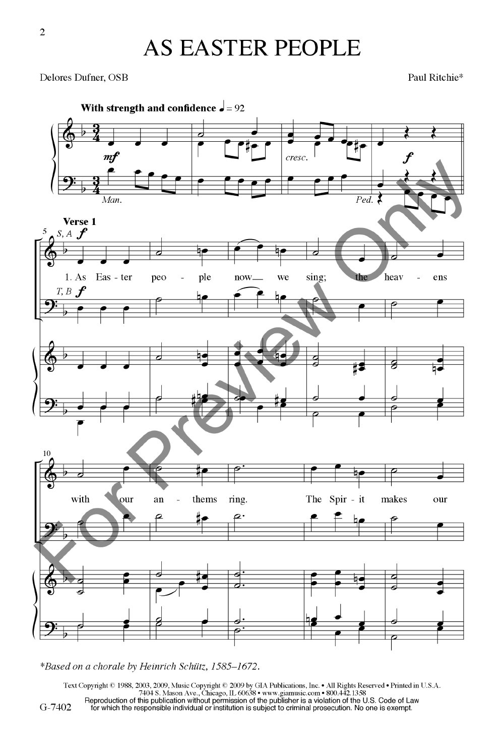 As Easter People (SATB ) arr  Paul Ritchie| J W  Pepper Sheet Music