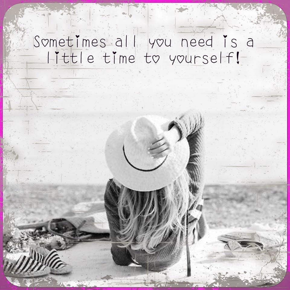 Sometimes, all you need is a little time to yourself ...