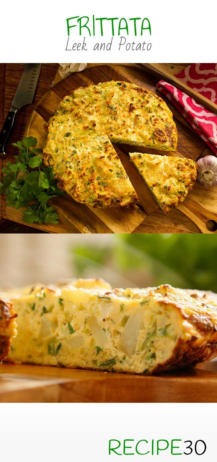Leek And Potato Frittata With Parmesan And Ricotta Cheese