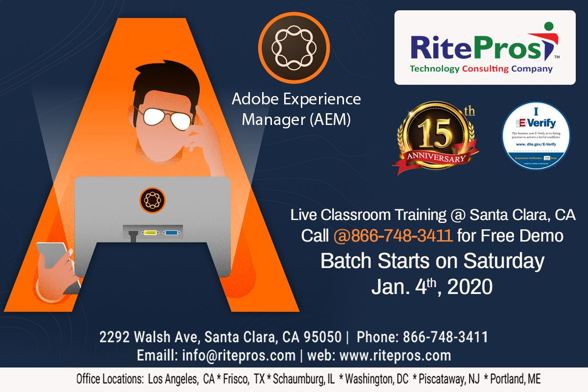 Adobe Experience Manager Aem Batch Starts On Jan 4th 2020 Saturday Classroom Training Corporate Training Technology Consulting