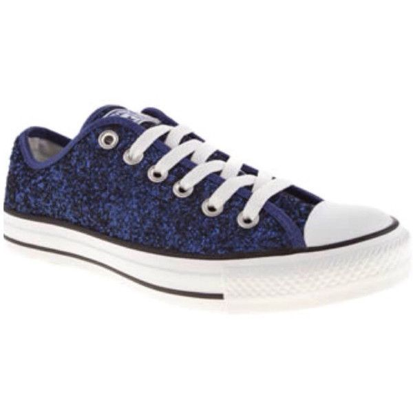 df56480c5d5 Converse all star handmade Sparkly glitter navy blue chucks sneakers...  ( 98) ❤ liked on Polyvore
