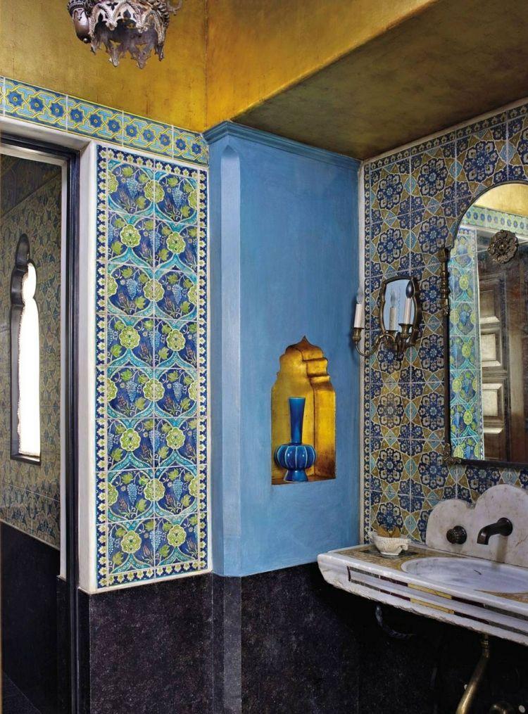 Aufwändiges Fliesen Design Im Orientalischen Stil