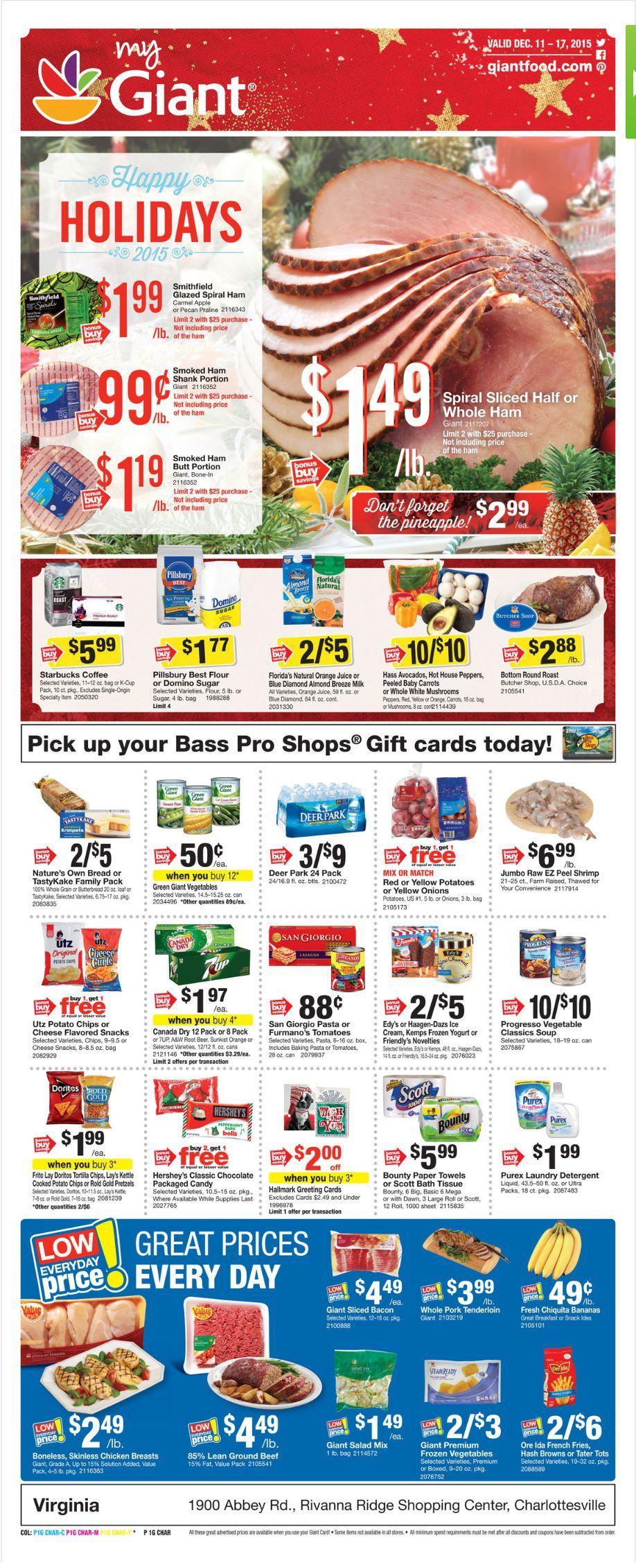 Giant food weekly ad december 4 10 2015 weekly ads