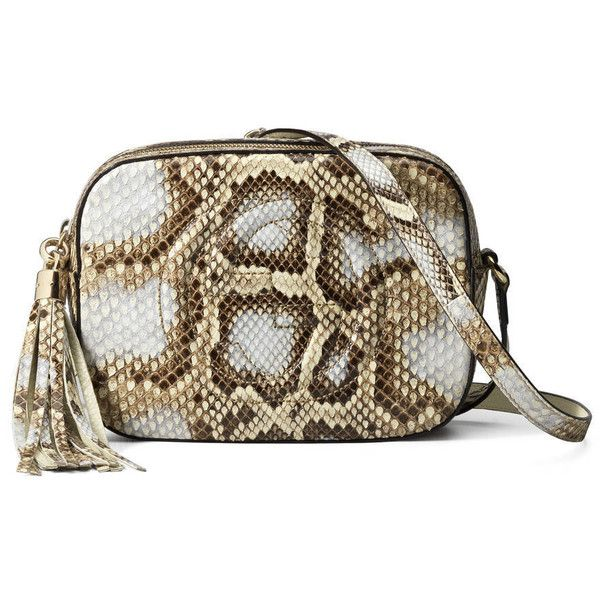 51d5acfff803 Gucci Soho Python Disco Bag ($929) ❤ liked on Polyvore featuring bags,  handbags
