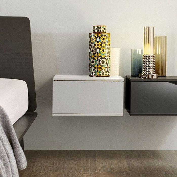 wand nachttisch 40 modelle nachttisch zum einh ngen. Black Bedroom Furniture Sets. Home Design Ideas