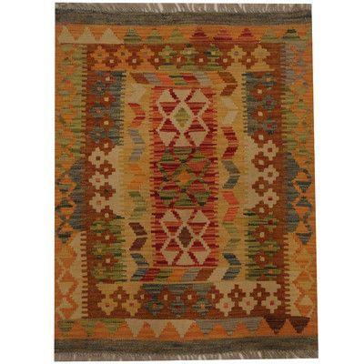 Herat Oriental Kilim Hand-Woven Red/Brown Area Rug