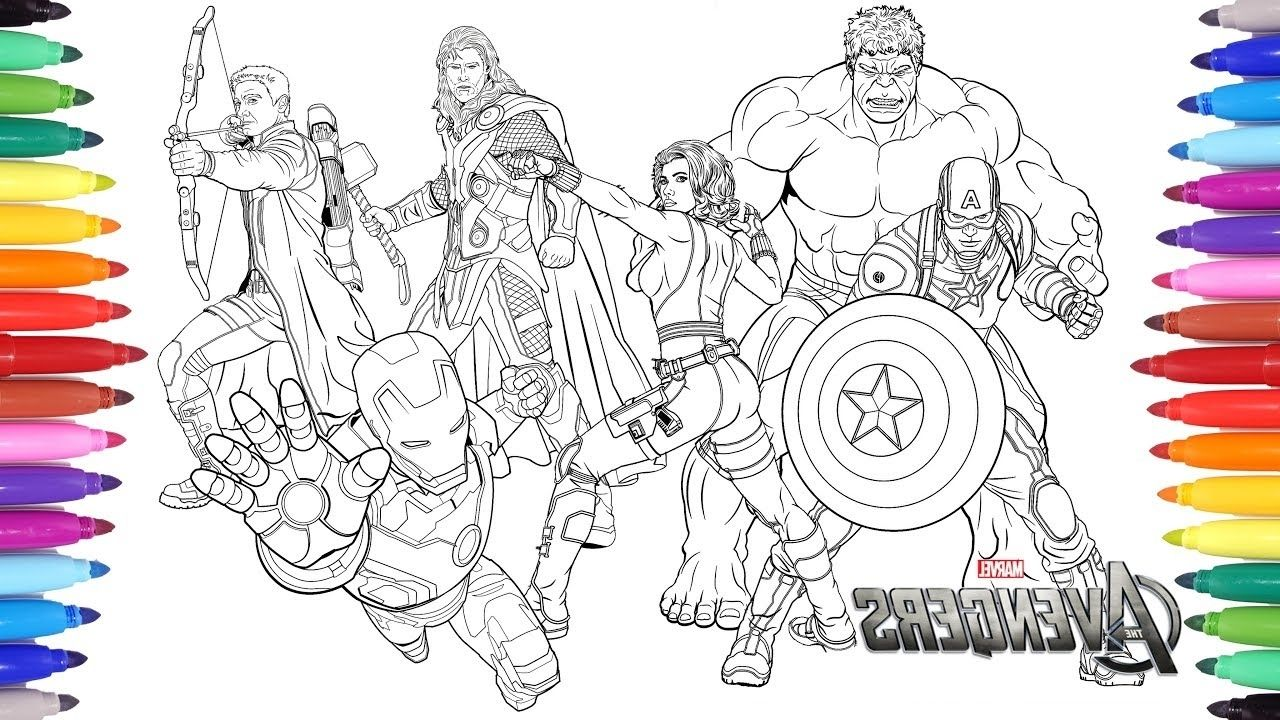 Avengers Coloring Halaman Mewarnai Avengers Gambar