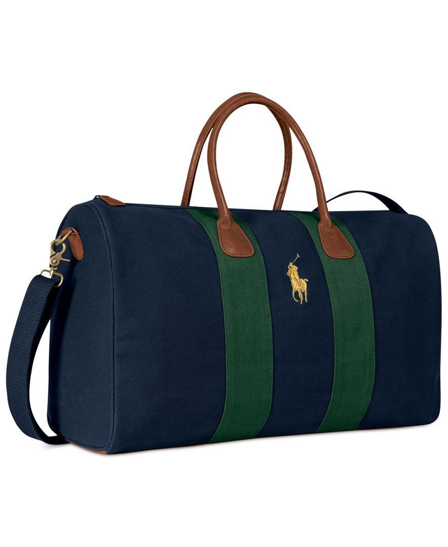 2c346104e9 Ralph Lauren Polo Green Blue Duffle Weekend Bag