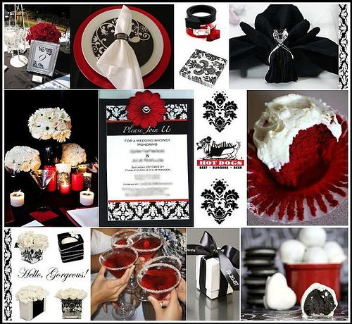 A Black and White affair | Red black, Weddings and Red wedding