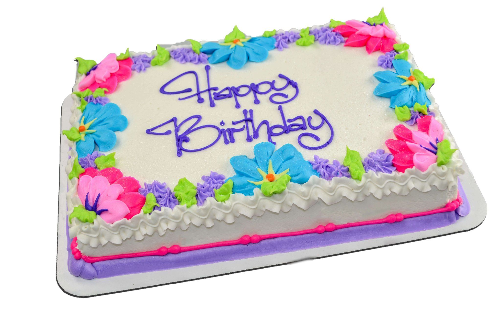 Super Summer Flower Border With Images Birthday Sheet Cakes Sheet Personalised Birthday Cards Veneteletsinfo