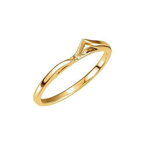 18k Yellow Gold Band for round cathedral engagement
