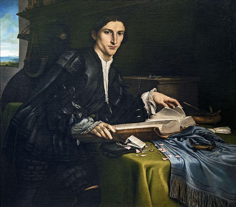 Accademia - Ritratto di giovane gentiluomo nel suo studio - Lorenzo Lotto cat.912 - Gallerie dell'Accademia (Venetië) - Wikipedia